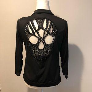 Daley Fushi cotton blazer black M skull on back
